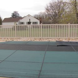almond colored pool fence