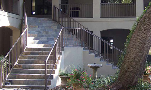 Commercially Installed Aluminum Porch Railings