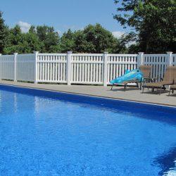 Arcadia White Vinyl Pool Fence