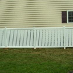 Arcadia White Vinyl Yard Fence