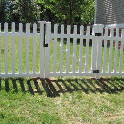 Asbury White Vinyl Picket Fence