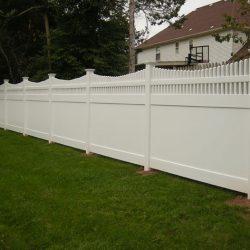 Brandywine White Vinyl Privacy Fence