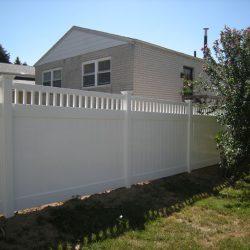 canterbury white vinyl fence