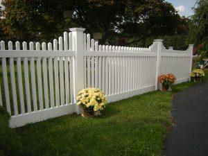 classic white vinyl fencing