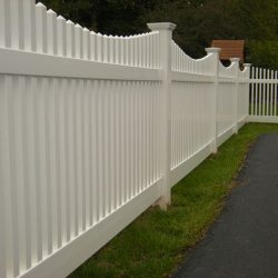Essex White Vinyl Picket Fence