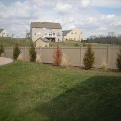 khaki vinyl privacy fence