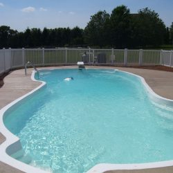large vinyl pool fence