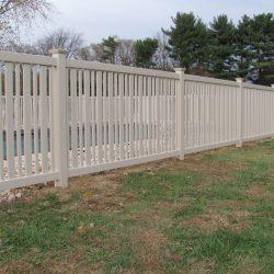 almond pvc pool fence