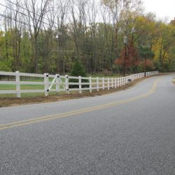 pvc split rail fencing