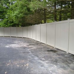 Newport Almond 8' High Vinyl Privacy Fence