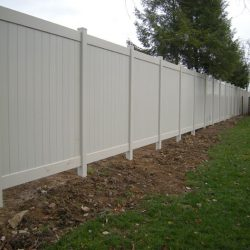 Almond Colored Vinyl Privacy Fence