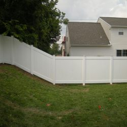 professional backyard pvc fence installation