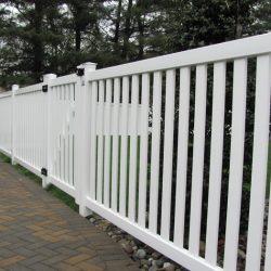 White Vinyl Yard Fence Panels