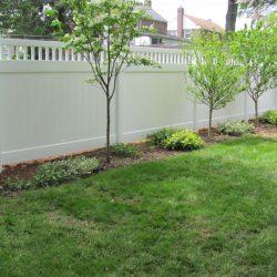 Canterbury White Vinyl Privacy Fence