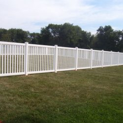 vertical slat style pvc fence