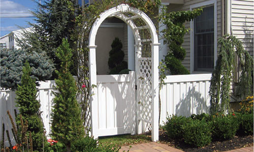 White Vinyl Arbor and Gate in Chester County, PA