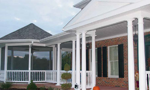 White Porch Railings Installed in West Chester PA