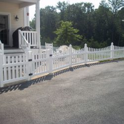 White Concave Pool Fence