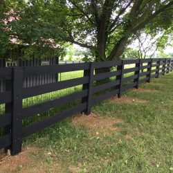3 Rail Post & Board Painted Black