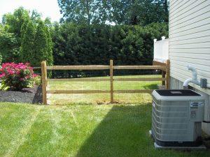 wooden split rail fences