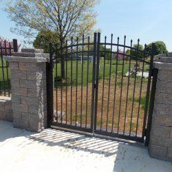aluminum fence and estate gate