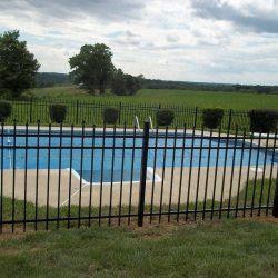 aluminum pool fence provides child safety