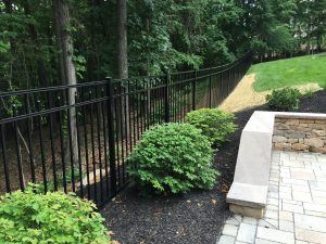 backyard aluminum fence panel inspiration