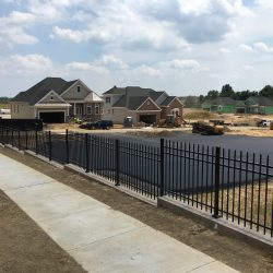 black aluminum fence pictures