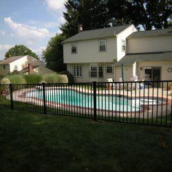 black aluminum pool fence inspiration