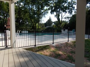 brand new black aluminum fence