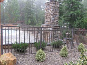 bronze finished aluminum fence panel inspiration
