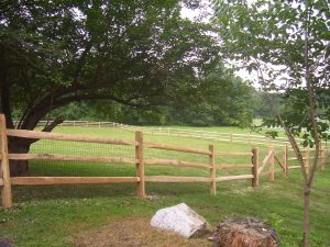 classic post and rail fence