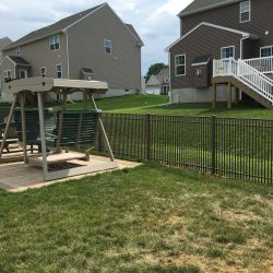 close spacing style aluminum fence