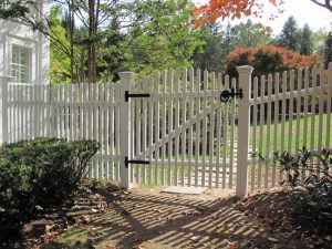 custom picket fence and gate