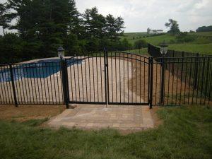 large aluminum pool gate