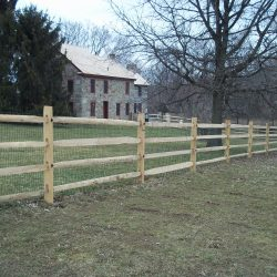 light rail and post wood privacy fence