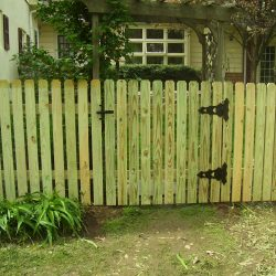 Pressure Treated Dog Ear Picket Fence