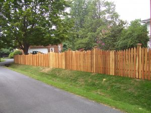 Red Cedar Wood Concave Gothic Picket Fence