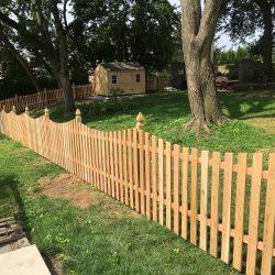 Red Cedar Concave Picket Fence