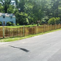 Red Cedar Concave Picket with 5x5 Posts