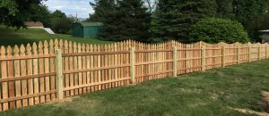 red cedar wooden privacy fence