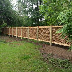 red cedar picket fence