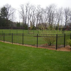 residential aluminum fence ideas