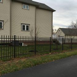 residential black aluminum fence
