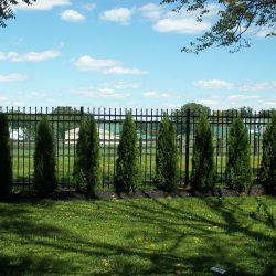 satin black aluminum fence panel inspiration