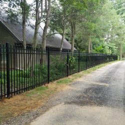 satin black commercial aluminum fence panels