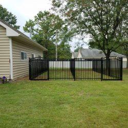 satin black commercial aluminum privacy fence ideas