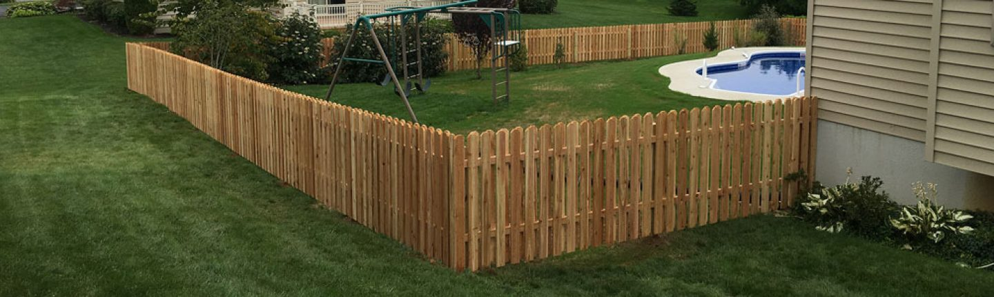 Wood Shadow Box Privacy Fence Professionally Installed