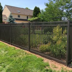 short picket style aluminum fence