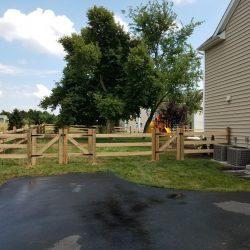 slip board wooden fence